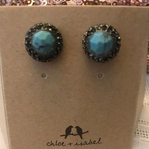 C+I Turquoise Earrings NWOT
